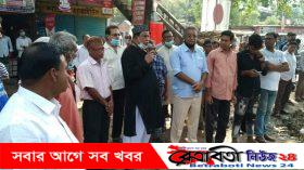 কলারোয়ায় সাম্প্রদায়িক সম্প্রীতি বিনষ্টের প্রতিবাদে মানববন্ধন ও প্রতিবাদ সমাবেশ